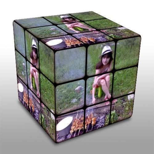 Я на кубике рубике.