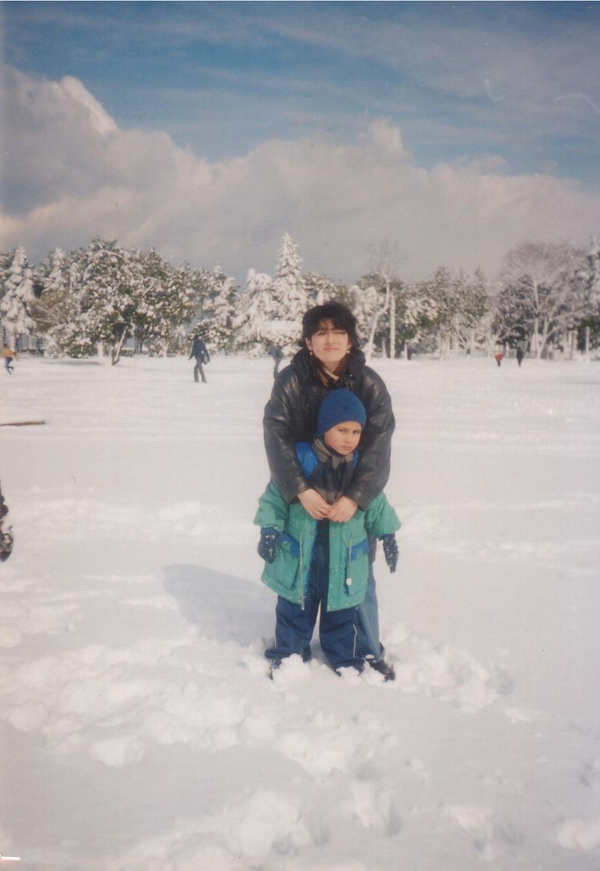 Я и Михась. Батуми, зима-2004