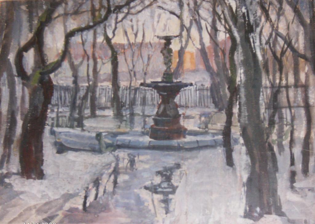 Зимний петербургский пейзаж