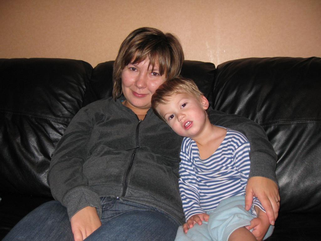 А это жена с сыном Тимошкой