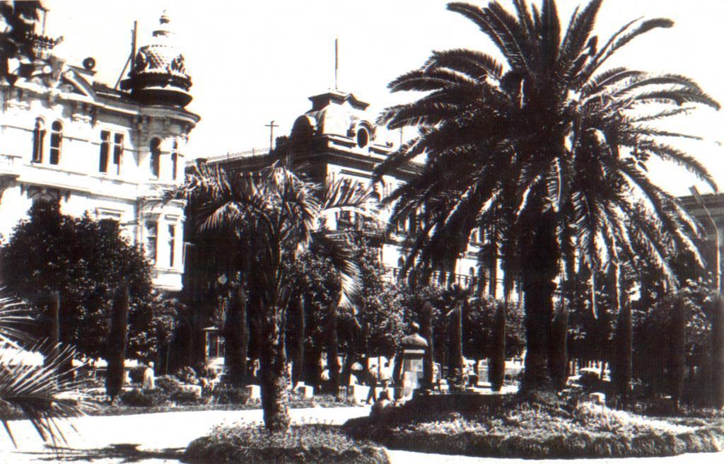 Сквер в центре Батуми,начало 60-х г.г.