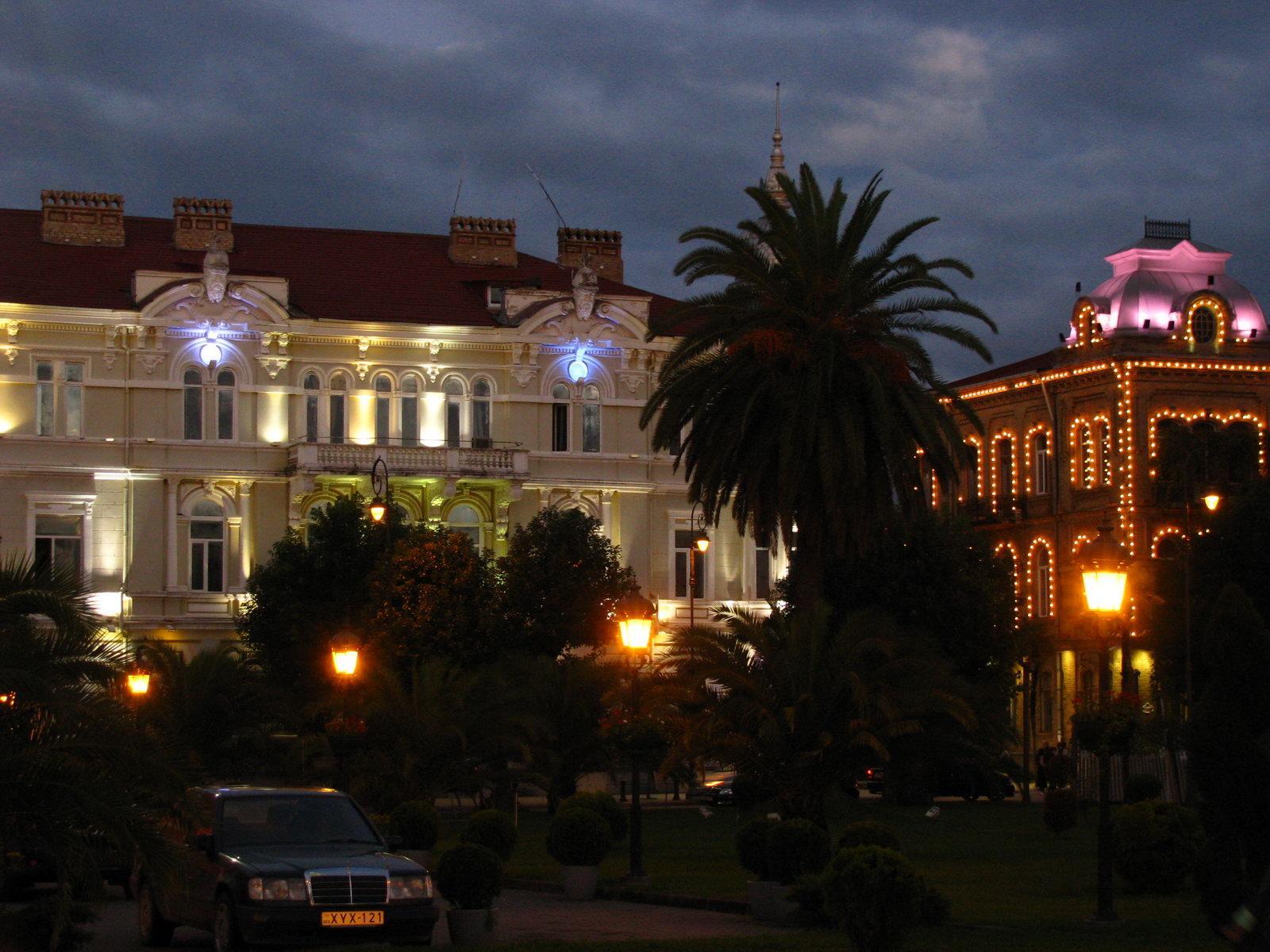 Центр города вечером