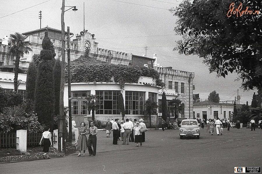 Батумъ Батуми , ж.д. Вокзал в прошлом веке.